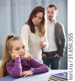 Купить «Parents lecturing daughter», фото № 31650355, снято 9 декабря 2019 г. (c) Яков Филимонов / Фотобанк Лори