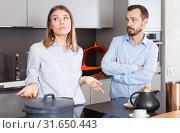 Купить «Couple finding out relationship», фото № 31650443, снято 24 мая 2018 г. (c) Яков Филимонов / Фотобанк Лори