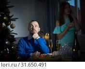 Купить «Upset couple after quarrel», фото № 31650491, снято 15 января 2019 г. (c) Яков Филимонов / Фотобанк Лори