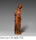 Купить «Virgin of the Annunciation, ca0–1300, Made in possibly Strasbourg, France, North French School, Walnut with traces of paint, originally painted, Overall...», фото № 31660715, снято 27 апреля 2017 г. (c) age Fotostock / Фотобанк Лори