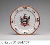 Купить «Soup Plate, 1785–90, Made in China, Chinese, for American market, Porcelain, Diam. 9 1/4 in. (23.5 cm), Ceramics, This object belongs to a large dinner...», фото № 31664107, снято 22 февраля 2017 г. (c) age Fotostock / Фотобанк Лори