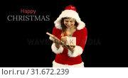 Купить «Mrs Clause opening her present 4k», видеоролик № 31672239, снято 30 сентября 2018 г. (c) Wavebreak Media / Фотобанк Лори