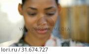 Купить «Female executive working on architectural model in office 4k», видеоролик № 31674727, снято 1 сентября 2018 г. (c) Wavebreak Media / Фотобанк Лори