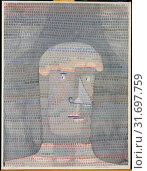 Athlete's Head, 1932, Watercolor, gouache, and graphite on paper mounted on cardboard, 24 3/4 x 18 7/8 in. (62.9 x 47.9 cm), Drawings, Paul Klee (German... (2017 год). Редакционное фото, фотограф © Copyright Artokoloro Quint Lox Limited / age Fotostock / Фотобанк Лори