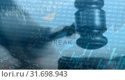 Купить «Conceptual digital animation showing business graph 4k», видеоролик № 31698943, снято 26 октября 2018 г. (c) Wavebreak Media / Фотобанк Лори