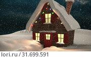 Купить «Video composition with snow over winter scenery at night», видеоролик № 31699591, снято 2 ноября 2018 г. (c) Wavebreak Media / Фотобанк Лори