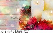 Купить «Candles combined with falling snow», видеоролик № 31699727, снято 2 ноября 2018 г. (c) Wavebreak Media / Фотобанк Лори
