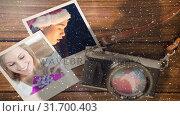 Купить «Video composition with snow over camera with instant pictures on side», видеоролик № 31700403, снято 2 ноября 2018 г. (c) Wavebreak Media / Фотобанк Лори