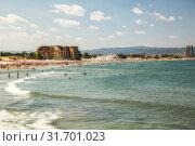 Купить «Sunny Beach resort in Bulgaria», фото № 31701023, снято 27 июня 2019 г. (c) Юлия Бабкина / Фотобанк Лори