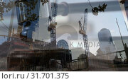 Construction site with falling gavel. Стоковое видео, агентство Wavebreak Media / Фотобанк Лори