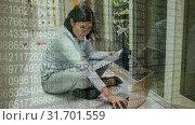 Купить «Woman working in Server Room and big data amount», видеоролик № 31701559, снято 6 ноября 2018 г. (c) Wavebreak Media / Фотобанк Лори
