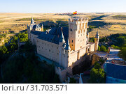 Купить «Aerial view of fortress Alcazar of Segovia. Spain», фото № 31703571, снято 17 июня 2019 г. (c) Яков Филимонов / Фотобанк Лори