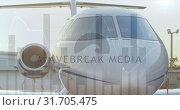 Купить «Aeroplane parked at an airport on a sunset 4k», видеоролик № 31705475, снято 5 апреля 2019 г. (c) Wavebreak Media / Фотобанк Лори