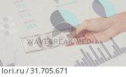 Купить «Dollar bill and statistics 4k», видеоролик № 31705671, снято 17 апреля 2019 г. (c) Wavebreak Media / Фотобанк Лори