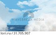 Clear sky and the sea. Стоковое видео, агентство Wavebreak Media / Фотобанк Лори