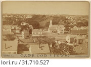 Cape Cod Views. P. Town from Center Church, G.H. Nickerson (American, active 1860s - 1880s), 1880s, Albumen silver print (2018 год). Редакционное фото, фотограф © Liszt Collection / age Fotostock / Фотобанк Лори