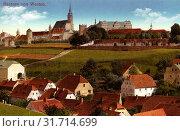 Protschenberg, Seidau/Židow, Historical images of Ortenburg (Bautzen), 1914, Landkreis Bautzen, Bautzen, von Westen, Germany (2019 год). Редакционное фото, фотограф Copyright Liszt Collection / age Fotostock / Фотобанк Лори