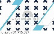 Купить «Moving sequence of white, grey blue and black shapes in fromation on white and black backgrounds», видеоролик № 31715387, снято 5 июля 2019 г. (c) Wavebreak Media / Фотобанк Лори