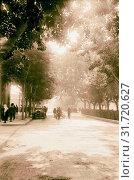 Damascus and environs. Damascus. The main boulevard. 1920, Syria, Damascus (2018 год). Редакционное фото, фотограф © Liszt Collection / age Fotostock / Фотобанк Лори