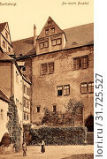 Schloss Rochsburg, 1915, Landkreis Mittelsachsen, Rochsburg, Partie im 2. Burghof, Germany (2019 год). Редакционное фото, фотограф Copyright Liszt Collection / age Fotostock / Фотобанк Лори