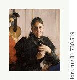 Mrs. John Crosby Brown (Mary Elizabeth Adams, 1842–1918), ca. 1900, Oil on canvas, 29 x 23 3/4 in. (73.7 x 60.3 cm), Paintings, Anders Zorn (Swedish, Mora 1860–1920 Mora) (2017 год). Редакционное фото, фотограф © Copyright Artokoloro Quint Lox Limited / age Fotostock / Фотобанк Лори