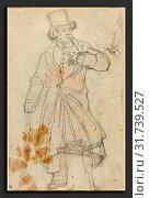 Купить «Théodore Gericault (French, 1791 - 1824), Study for 'Swiss Sentry at the Louvre', c. 1819, graphite on laid paper», фото № 31739527, снято 24 ноября 2009 г. (c) age Fotostock / Фотобанк Лори