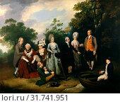 The Oliver and Ward Families, Francis Wheatley, 1747-1801, British (2014 год). Редакционное фото, фотограф Artokoloro / age Fotostock / Фотобанк Лори