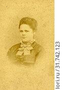 Купить «Portrait of a woman in high-necked dress, Laura Lasinsky, c. 1860 - c. 1919», фото № 31742123, снято 21 августа 2016 г. (c) age Fotostock / Фотобанк Лори