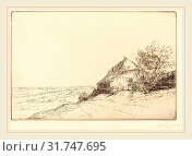 Купить «Alphonse Legros, Hovel on a Hillside (Masure sur la colline), French, 1837-1911, etching», фото № 31747695, снято 12 августа 2010 г. (c) age Fotostock / Фотобанк Лори