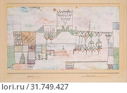 Great Hall for Singers, 1930, Watercolor and gouache on gesso on paper mounted on cardboard, 15 1/2 × 23 1/8 in. (39.4 × 58.7 cm), Drawings, Paul Klee... (2017 год). Редакционное фото, фотограф © Copyright Artokoloro Quint Lox Limited / age Fotostock / Фотобанк Лори