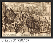 Antonio Tempesta (Italian, 1555 - 1630), Elisha Bringing the Blinded Syrian Army to the King of Israel, 1613, etching (2010 год). Редакционное фото, фотограф Artokoloro / age Fotostock / Фотобанк Лори