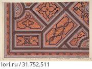 Design for the Decoration of the Ceiling in the Vestibule (Ier étage), HÃ'tel de S. A. le Prince de P..[Pless?}, Berlin, second half 19th century, Watercolor... (2017 год). Редакционное фото, фотограф © Copyright Artokoloro Quint Lox Limited / age Fotostock / Фотобанк Лори