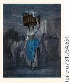 Wheatley's cries of London, UK, Strawberrys scarlet strawberrys by J Wheatley R.A., 1747-1801, late 18th century painting, street seller, working woman... (2013 год). Редакционное фото, фотограф Artokoloro / age Fotostock / Фотобанк Лори