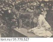 Margaret Eakins and Harry, Thomas Eakins (American, 1844 - 1916), about 1881, Platinum print, 13.3 x 18.4 cm (5 1,4 x 7 1,4 in.) (2018 год). Редакционное фото, фотограф © Liszt Collection / age Fotostock / Фотобанк Лори