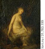 Bading woman, Hippolyte Michaud, 1840 - 1886 (2014 год). Редакционное фото, фотограф Artokoloro / age Fotostock / Фотобанк Лори