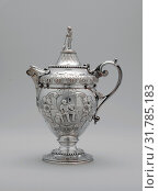Купить «Creampot, 1862–63, Made in New York, New York, United States, American, Silver, 8 1/8 x 5 13/16 in. (20.6 x 14.8 cm), Silver, Wood and Hughes (1845â€...», фото № 31785183, снято 21 февраля 2017 г. (c) age Fotostock / Фотобанк Лори