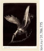Odilon Redon (French, 1867-1939), Apres cela je vis descendre du ciel un ange qui avait la clef de l'abime, et une grande chaine en sa main (And I saw... (2014 год). Редакционное фото, фотограф Artokoloro / age Fotostock / Фотобанк Лори