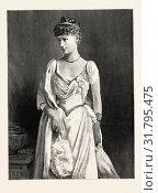 Купить «HER EXCELLENCY THE COUNTESS OF ZETLAND, engraving 1890», фото № 31795475, снято 13 апреля 2012 г. (c) age Fotostock / Фотобанк Лори
