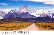 Cerro Torre and glaciers. Стоковое фото, фотограф Яков Филимонов / Фотобанк Лори