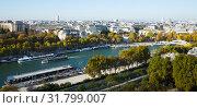 Купить «Aerial panoramic view of Paris», фото № 31799007, снято 10 октября 2018 г. (c) Яков Филимонов / Фотобанк Лори