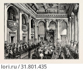 OPENING OF THE NEW HOUSES OF PARLIAMENT, CAPETOWN: READING THE ADDRESS IN THE THRONE ROOM. (2012 год). Редакционное фото, фотограф Artokoloro / age Fotostock / Фотобанк Лори