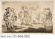 The Little Cavaliers, after 'Velázquez', 1861–62, etching, drypoint, and bitten tone on laid paper (watermark: H P Hallines), state one of six, plate... (2017 год). Редакционное фото, фотограф © Copyright Artokoloro Quint Lox Limited / age Fotostock / Фотобанк Лори