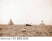 Valkyrie and Vigilant, after the start, Vigilant (Yacht), Valkyrie II (Yacht), America's Cup races, Yachts, Regattas, 1893 (2014 год). Редакционное фото, фотограф Artokoloro / age Fotostock / Фотобанк Лори