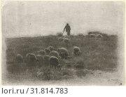 Купить «Shepherd with flock of sheep, Anton Mauve, 1848 - 1888», фото № 31814783, снято 3 декабря 2014 г. (c) age Fotostock / Фотобанк Лори