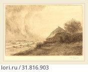 Купить «Alphonse Legros, Hovel on a Hillside (Masure sur la colline), French, 1837-1911, etching», фото № 31816903, снято 12 августа 2010 г. (c) age Fotostock / Фотобанк Лори