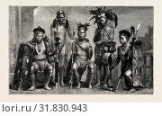 Купить «GROUP OF BAUPARA NAGAS, FROM THE EASTERN FRONTIER OF INDIA, ENGRAVING 1884», фото № 31830943, снято 11 апреля 2012 г. (c) age Fotostock / Фотобанк Лори