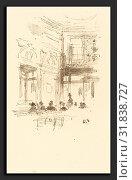 James McNeill Whistler (American, 1834 - 1903), Gatti's, 1890, lithograph on cream wove paper (2010 год). Редакционное фото, фотограф Artokoloro / age Fotostock / Фотобанк Лори
