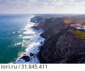 Купить «Cabo da Roca landscape with lighthouse», фото № 31845411, снято 21 апреля 2019 г. (c) Яков Филимонов / Фотобанк Лори