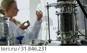 Купить «Female worker working in distillery factory 4k», видеоролик № 31846231, снято 29 августа 2018 г. (c) Wavebreak Media / Фотобанк Лори