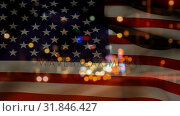 American flag video. Стоковое видео, агентство Wavebreak Media / Фотобанк Лори